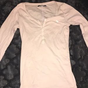 Powder pink long sleeve top